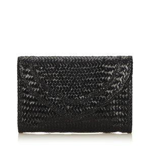YSL Weaved Leather Clutch
