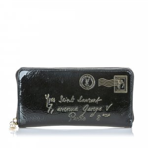YSL Y-Mail Patent Leather Long Wallet