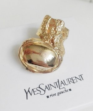 YSL Yves Saint Laurent Arty Ring Größe 6 Gold Cocktailring