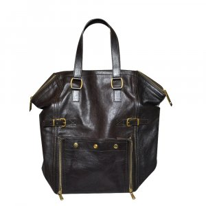 Saint Laurent Tote black brown leather
