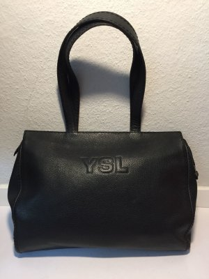 Yves Saint Laurent Shopper noir cuir