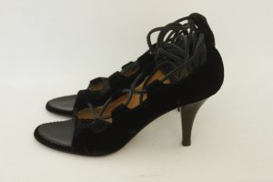 YSL Yves Saint Laurent Lace up Pumps Gr. 38,5 Samt