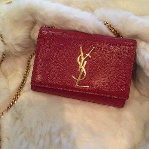 Ysl Yves Saint Laurent Monogramm chain shoulder bag rot gold