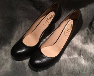 YSL Yves SAINT LAURENT Pumps Gr. D 37,5 Schwarz Damen Schuhe Tribtoo High Heels
