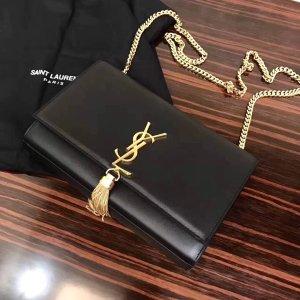 Pochette noir-brun sable cuir