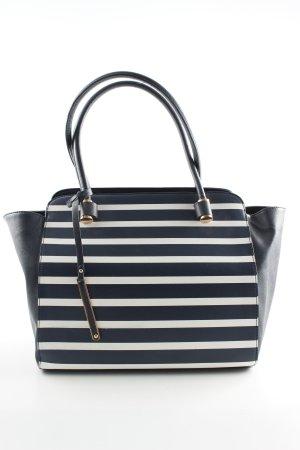 YSTRDY Handtasche blau-weiß Streifenmuster Business-Look