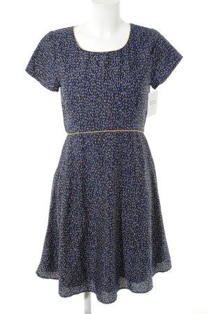 Yumi A-Linien Kleid abstraktes Muster schlichter Stil