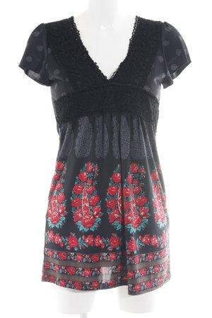 Yumi A-Linien Kleid Blumenmuster Boho-Look