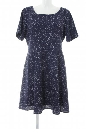 Yumi A-Linien Kleid dunkelblau-weiß Punktemuster Romantik-Look