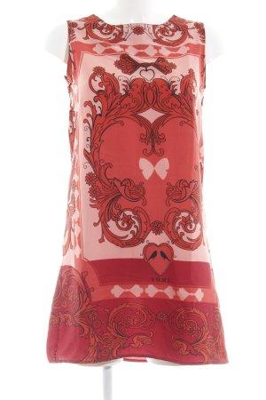 Yumi A-Linien Kleid rot-altrosa Allover-Druck Casual-Look