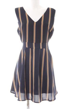 Yumi A-Linien Kleid Streifenmuster Casual-Look