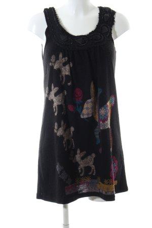 Yumi Babydoll Dress themed print casual look