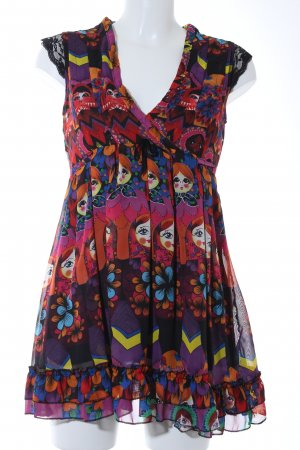 Yumi Blusenkleid abstraktes Muster extravaganter Stil