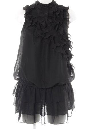 Yumi Chiffonkleid schwarz Elegant