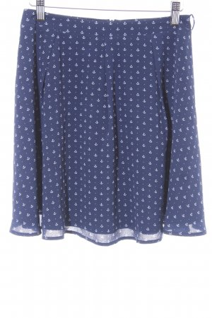Yumi Plaid Skirt white-dark blue themed print sailor style