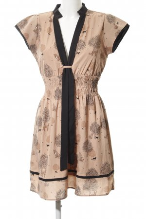 Yumi House-Frock beige-black abstract pattern extravagant style