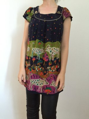 Yumi Herbst Kleid Strick Muster
