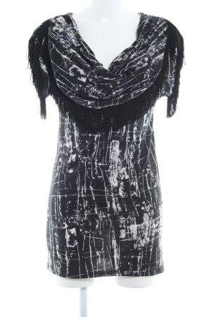 Yumi Jerseykleid abstraktes Muster Elegant