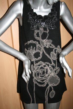 Yumi Kleid Gr. M/L schwarz mit Muster