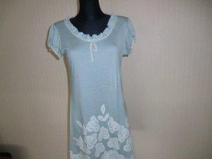 Yumi Kleid Sommerkleid Gr S/M hellblau mit Spitze und Blüten