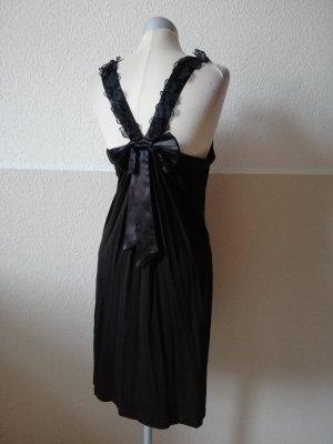 Yumi Kleid Trägerkleid Hängerchen schwarz Blüten Schleife Gr. M L 38 40 Gothic