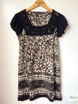 Yumi Kleid Tunika Blumen Spitze Hippie Floral Dress London
