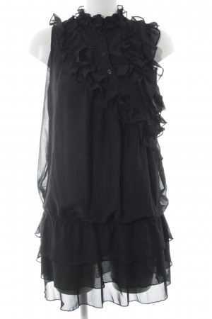 Yumi Kurzarmkleid schwarz Elegant