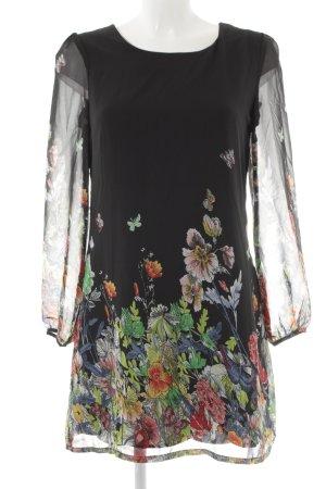 Yumi Langarmkleid Blumenmuster Casual-Look