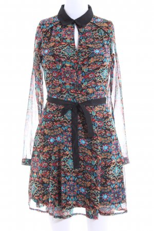 Yumi Langarmkleid abstraktes Muster Casual-Look