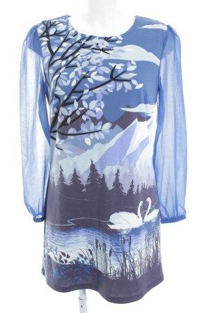 Yumi Langarmkleid Motivdruck Casual-Look