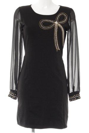 Yumi Langarmkleid schwarz Elegant