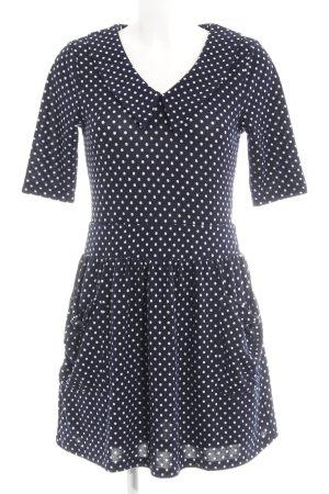 Yumi Langarmkleid weiß-dunkelblau Punktemuster Casual-Look