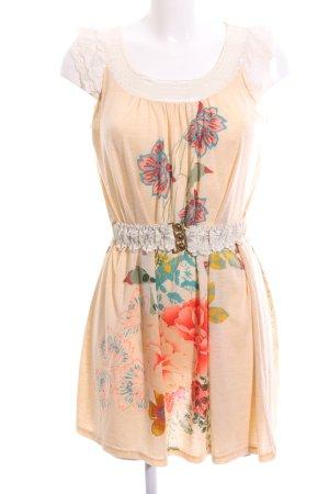 Yumi Longshirt Blumenmuster Casual-Look