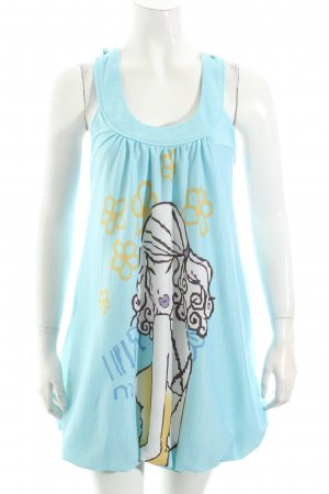 Yumi Longtop babyblau Beach-Look