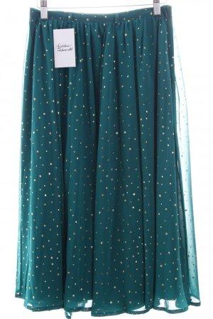 Yumi Midirock waldgrün-goldfarben Punktemuster Vintage-Look 34