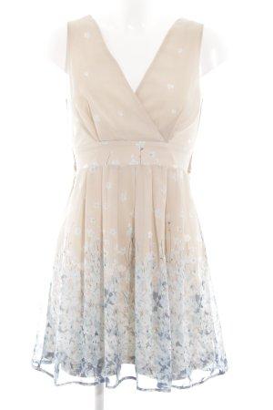 Yumi Minikleid nude-creme Blumenmuster Elegant