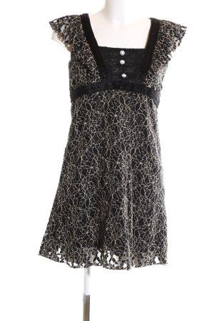 Yumi Minikleid schwarz-wollweiß abstraktes Muster Casual-Look