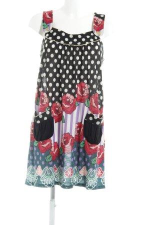 Yumi Minikleid Blumenmuster extravaganter Stil
