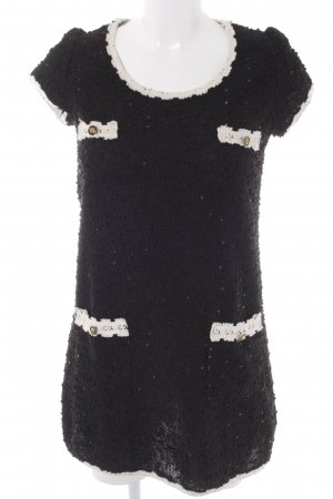 Yumi Minikleid schwarz-wollweiß Elegant