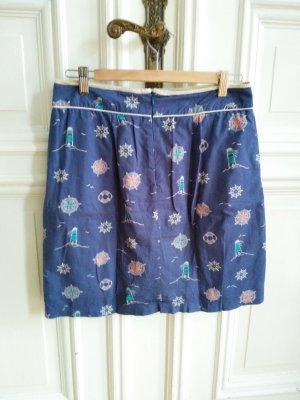 YUMI Minirock Taillen Rock blau Maritim Sommer boho Taschen Gr. 40