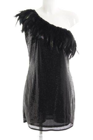Yumi Pailettenkleid schwarz extravaganter Stil