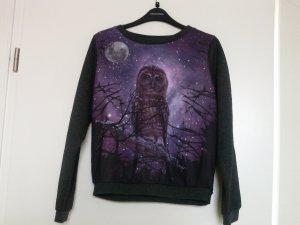 yumi pullover mit Eulenprint/ Bloggerstyle