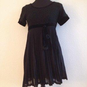 YUMI schwarzes Kleid mit Plissee Falten Gr. M
