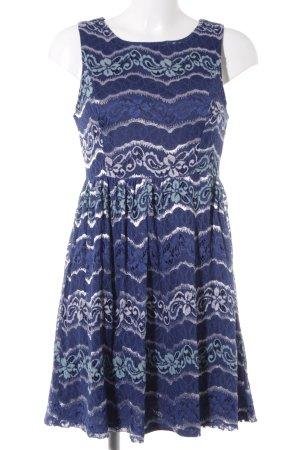 Yumi Kanten jurk veelkleurig Geweldige look