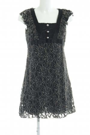 Yumi Spitzenkleid schwarz-creme Mustermix Casual-Look