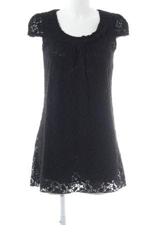 Yumi Vestido de encaje negro Apariencia de encaje