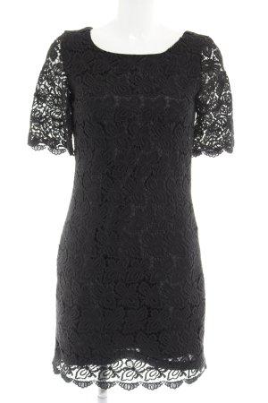 Yumi Spitzenkleid schwarz Webmuster Elegant