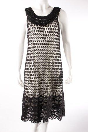 Yumi Spitzenkleid schwarz-weiß
