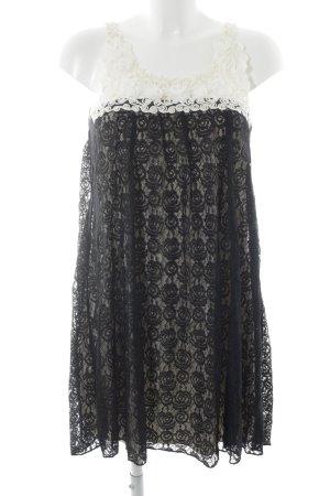 Yumi Spitzenkleid schwarz-weiß Elegant