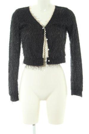 Yumi Boléro en tricot noir style décontracté